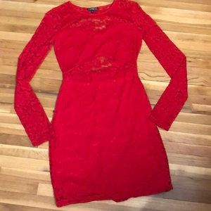 Express Lace Red Dress